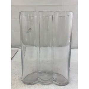 3 section clear glass vase floral craft home decor